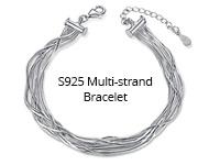 S925 Multi-strand Bracelet