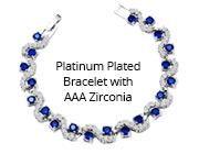Platinum Plated Bracelet with AAA Zirconia