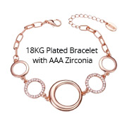 18KG Plated Bracelet with AAA Zirconia